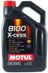 Motul 8100 X-cess 5W-40 (5 L) A3/B4 Motorolaj  +Ajándék MOTUL Diesel System Clean (300ML)