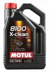 Motul 8100 X-Clean 5W-40 (4 L) C3 Motorolaj