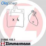 ZIMMERMANN fékbetét készlet, tárcsafék 21898.155.1