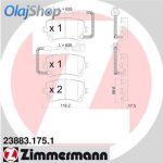 ZIMMERMANN fékbetét készlet, tárcsafék 23883.175.1