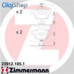 ZIMMERMANN fékbetét készlet, tárcsafék 23912.185.1
