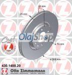 OPEL ASTRA H/CORSA D/MERIVA B/VECTRA B/ZAFIRA, SAAB 9-3/9-5 első féktárcsa (430.1488.20)