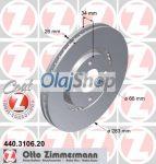CITROEN C3/C4/C5, PEUGEOT 207/307/308 ELSŐ FÉKTÁRCSA (440.3106.20)