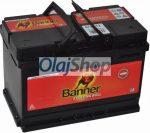 Banner Akkumulátor 72AH 640A J+ (H:278mm;Sz:175mm;M:190mm)