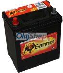 Banner Akkumulátor 40AH 300A B+ Asia vékony (H:187mm;Sz:127mm;M:204mm)