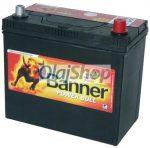 Banner Akkumulátor 45AH 390A J+ Asia vastag (H:238mm;Sz:129mm;M:225mm)