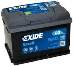 Exide EB602 (60AH 540 A)  excell J+