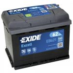 Exide EB621 (62AH 540 A)  excell B+