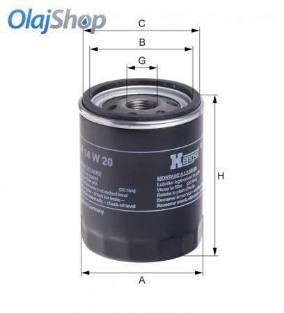 HENGST H14W20 olajszűrő