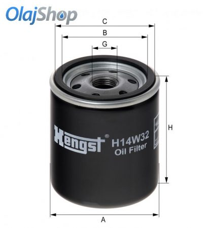 HENGST H14W32 olajszűrő