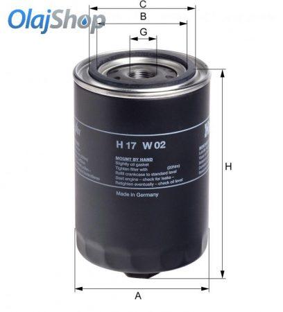 HENGST H17W02 olajszűrő