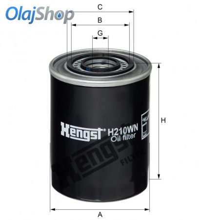 HENGST H210WN olajszűrő