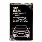 Mannol 7702 O.E.M. for Chevrolet/Opel 10W-40 fémdobozos (4 L) Motorolaj