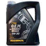MANNOL 7706 O.E.M. for RENAULT / NISSAN 5W-30 (5 L)