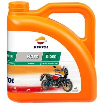 Repsol MOTO RIDER 4T 15W-50 (4 L) +AJÁNDÉK láncspray 400ml