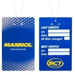 Olajcsere cimke Mannol 014 (drótos)