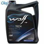 WOLF Vitaltech 5W-40 PI C3 (4 L) motorolaj