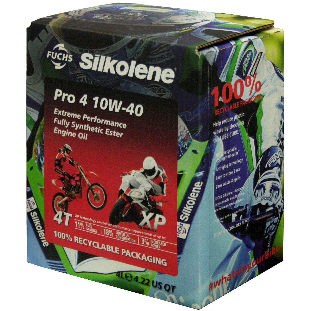 fuchs silkolne 100% recyclable packaning