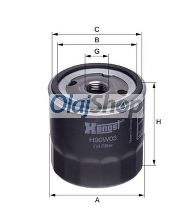 Hengst H90W03(OP 570) olajszűrő, H90W03