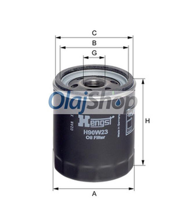 Hengst H90W23 olajszűrő, H90W23