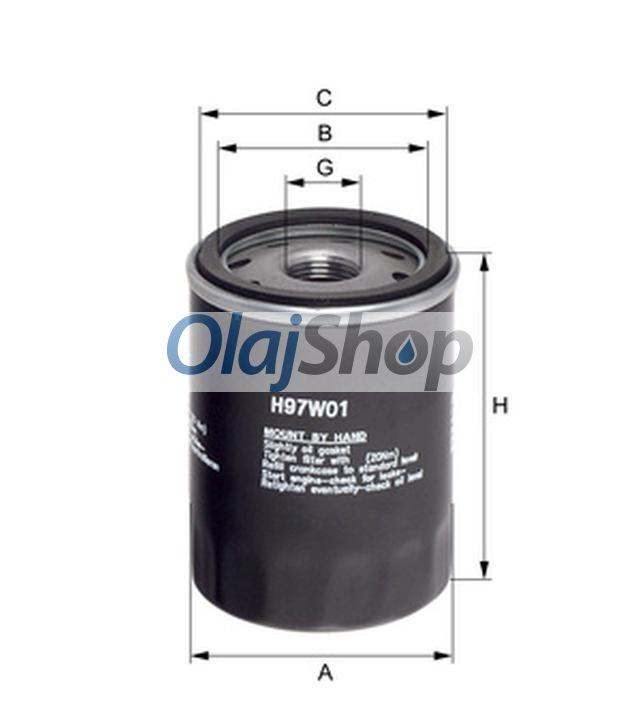Hengst H97W01 olajszűrő, H97W01